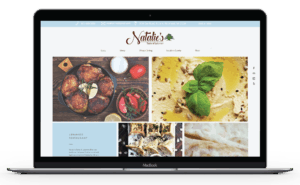 Client Project: Natalie's website in a laptop view.